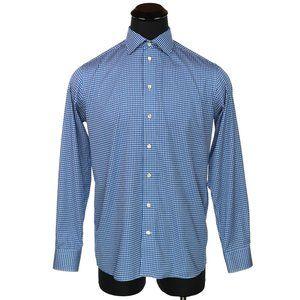 Eton Contemporary Dress Shirt White & Blue Checks